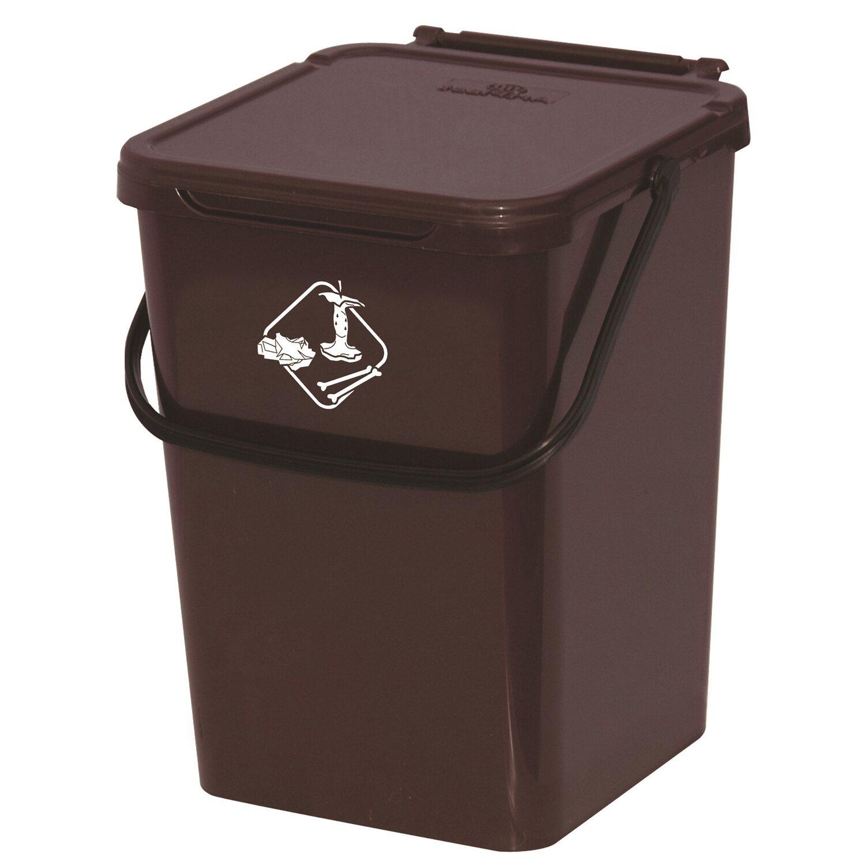 Contenitore per raccolta differenziata marrone 10 l - Contenitori spazzatura casa ...