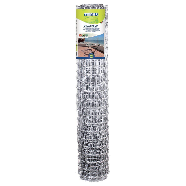 Rete Plastica Per Recinzioni Prezzi.Rete Da Recinzione Millenium In Plastica 1 M X 10 M Argento Obi