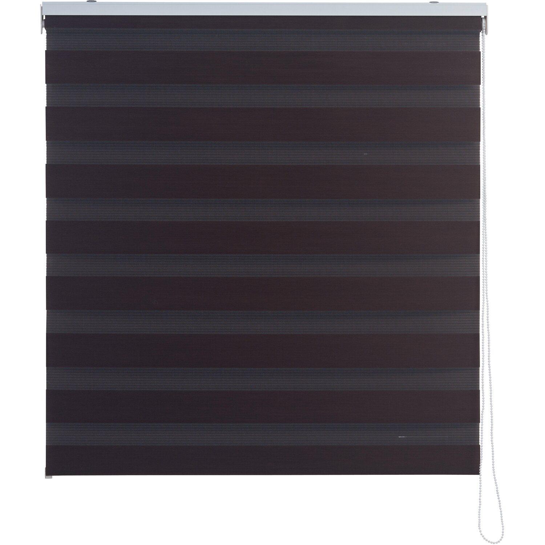 Obi tenda a rullo doppia avila 45 cm x 180 cm marrone for Tende per finestre sottotetto