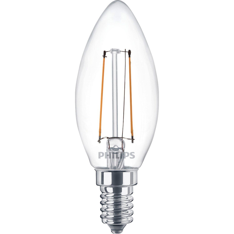 Philips lampadina led oliva filamento a 2 w e14 bianco for Lampadine a led e14