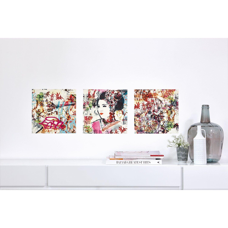 Set 3 stampe autoadesive da parete fantasia tokyo acquista for Stampe da parete
