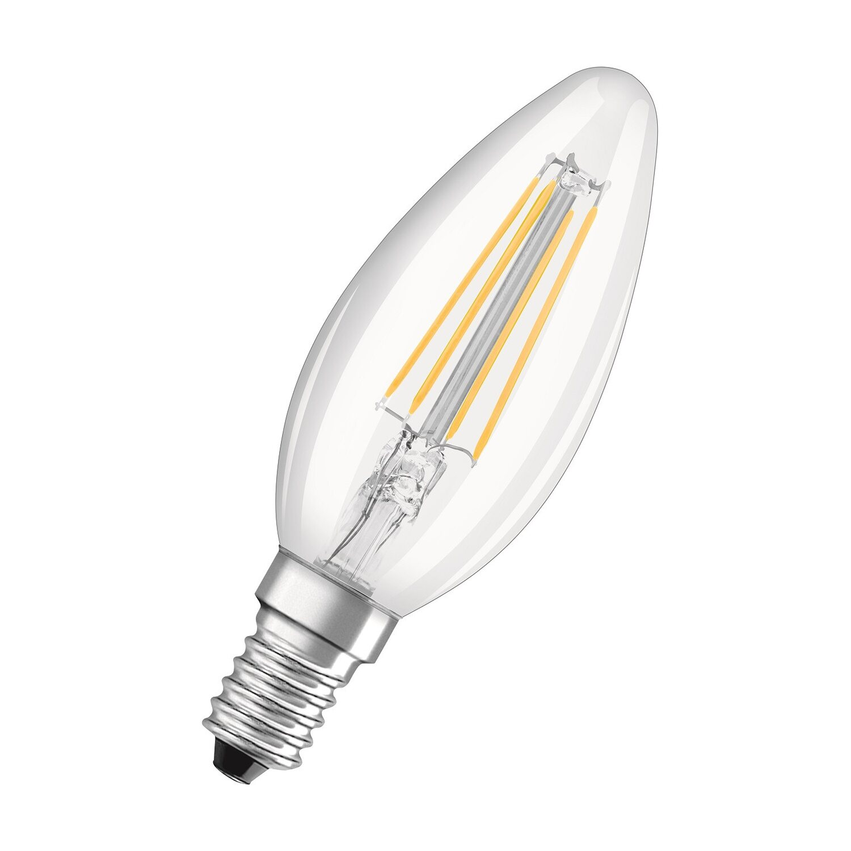 Osram lampada led retrofit filament classic b 40 ww e14 for Lampadine led 1 watt