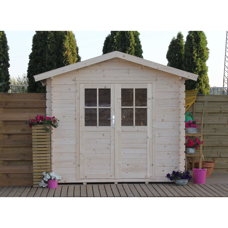 Casetta blockhouse in legno adele acquista da obi for Casette in legno obi