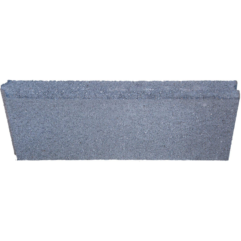 Cordolo liscio dritto grigio acquista da obi - Copertine per muretti esterno in cemento prezzi ...