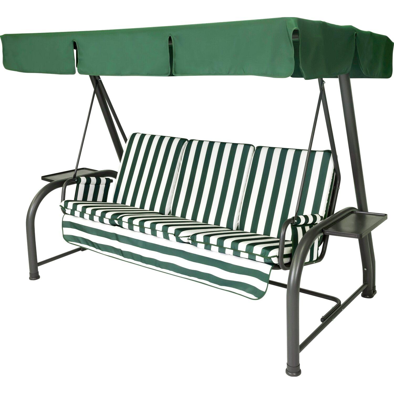 Dondolo Da Giardino Obi.Stiliac Set Cuscini E Tettuccio Dondolo Royal Bianco Verde