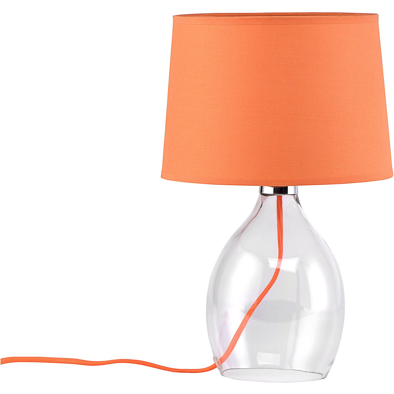 Paralumi In Vetro Per Lampade Da Tavolo.Leuchten Direkt Lampada Da Tavolo Vetro Paralume Stoffa Arancio 40 X