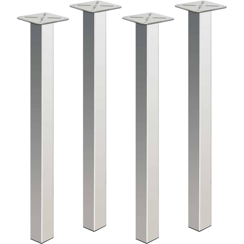 Gambe in acciaio per tavoli sossai tbch set di piedi per for Gambe per tavoli