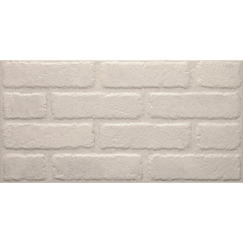 Piastrella gres porcellanato brick white 31 cm x 62 cm for Obi pannelli legno