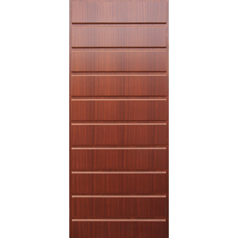 Pannello per porta blindata mogano medio acquista da obi - Pannello decorativo per porte ...