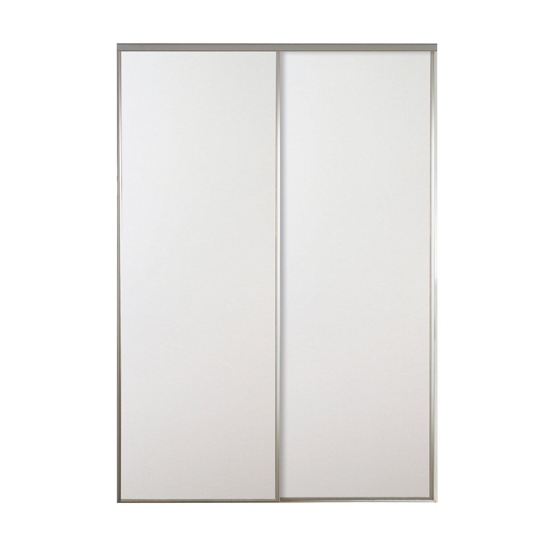 Ante Per Armadio A Muro Specchio.Kit 2 Ante Bianche Con Profilo Grigio Dimensioni 270 Cm X 120 Cm