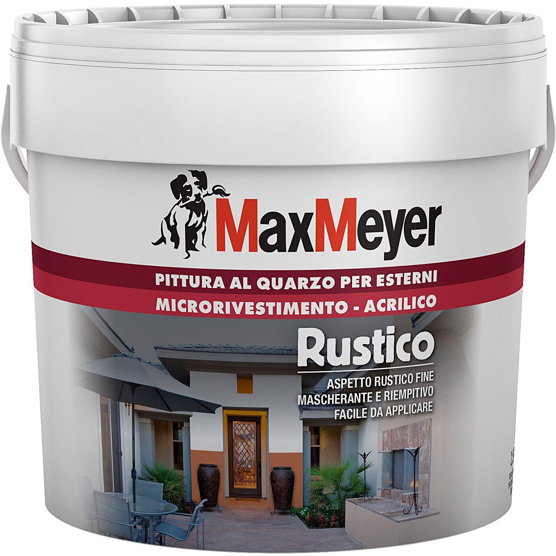 Migliore Pittura Per Interni maxmeyer idropittura al quarzo rustico grigio 2,5 l