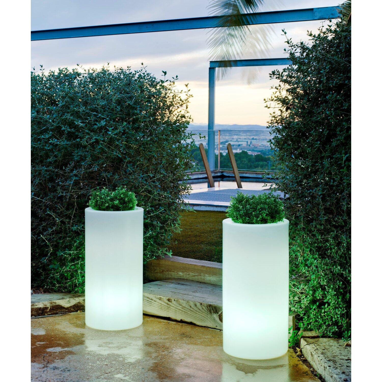 Lampade Per Porticati Esterni vaso luminoso palma