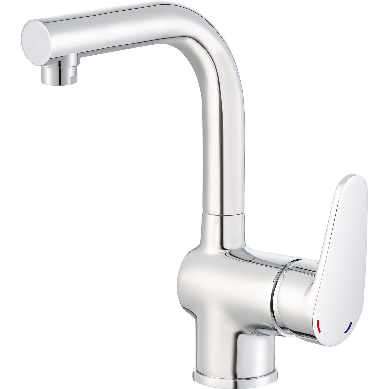obi rubinetto monocomando per lavabo arun modello medio-alto cromato