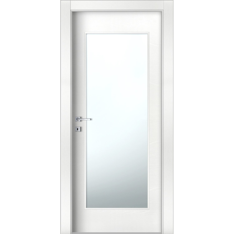 Porta battente vetrata reversibile aspen bianco frassino 210 cm x 80 cm acquista da obi - Porte da interno obi ...