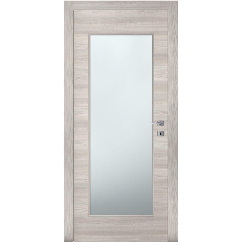 Porta Battente Vetrata Reversibile Aspen Soft Grey 210 Cm