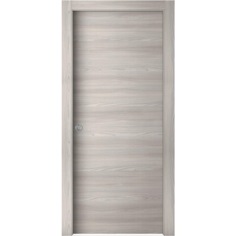 Porta scorrevole reversibile aspen soft grey 200 cm x 80 for Porte interne da obi prezzi