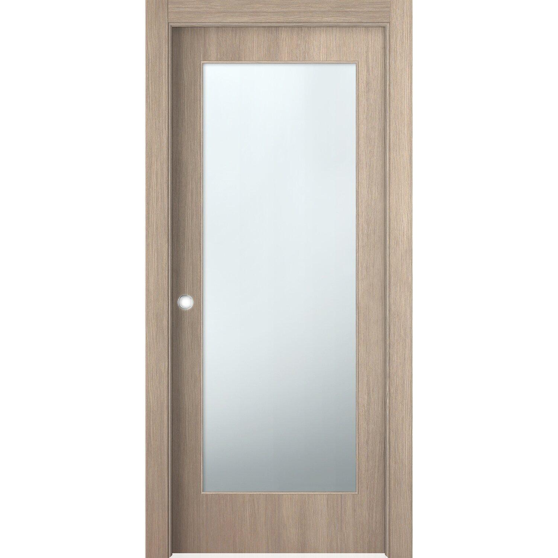 Porta vetrata scorrevole reversibile k2 larice sabbia 210 for Porte interne obi