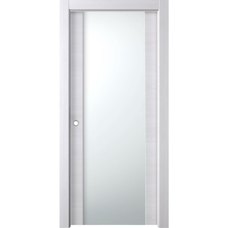 Porta scorrevole esterna vetrata reversibile manaslu acero - Porta da interno scorrevole esterna ...