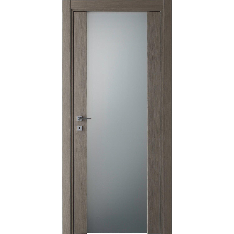 Porta battente vetrata reversibile manaslu larice sabbia for Porte 60 x 200