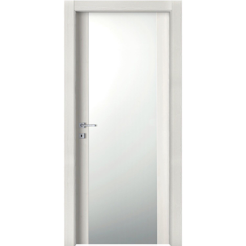 Porta battente vetrata reversibile manaslu acero neve 200 for Porte 60 x 50