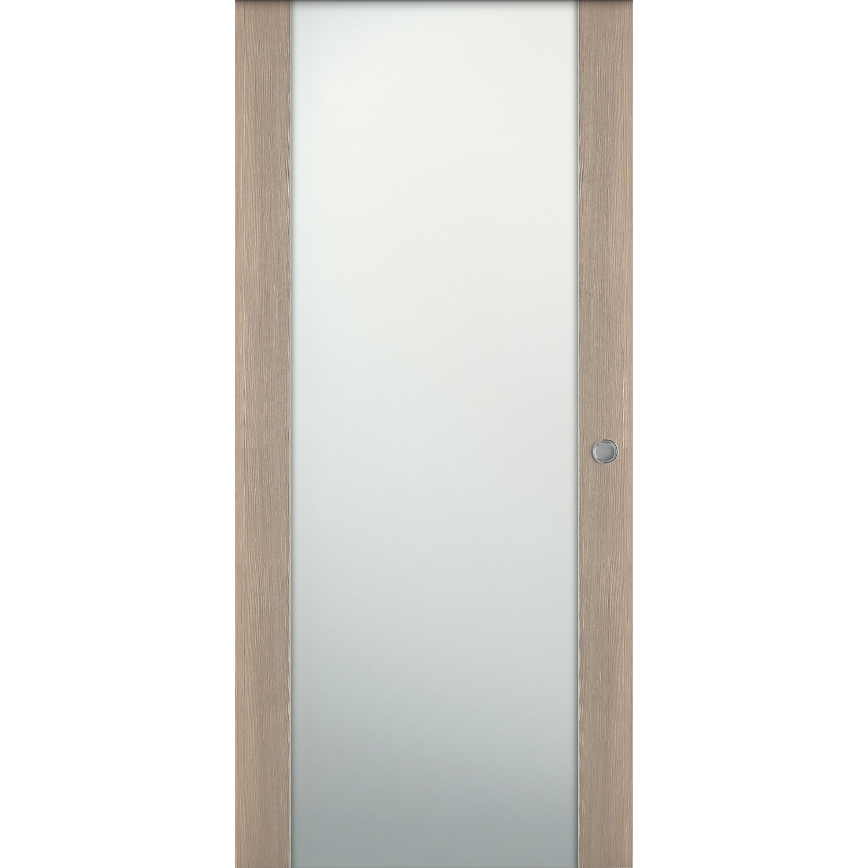 Porta scorrevole esterna vetrata reversibile Manaslu larice sabbia ...