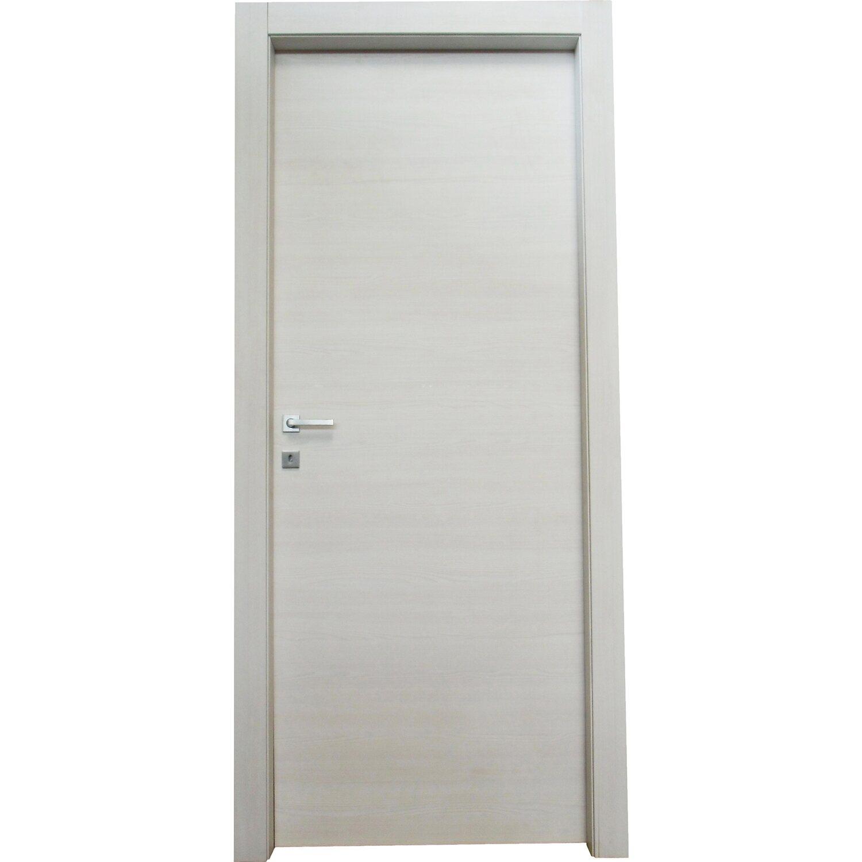 Porta a battente reversibile thuile acero neve 200 cm x 90 for Porte a battente