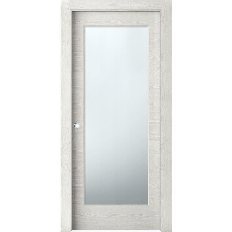 Porta scorrevole vetrata reversibile thuile acero neve 200 for Porte 60 x 200