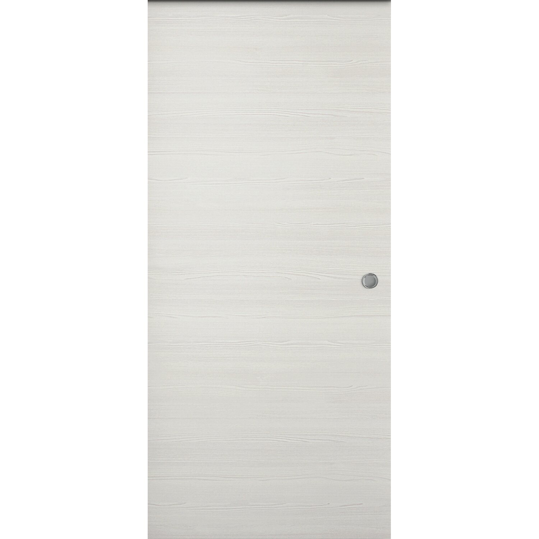 Porta scorrevole esterna reversibile Thuile acero neve 210 cm x 94,5 ...