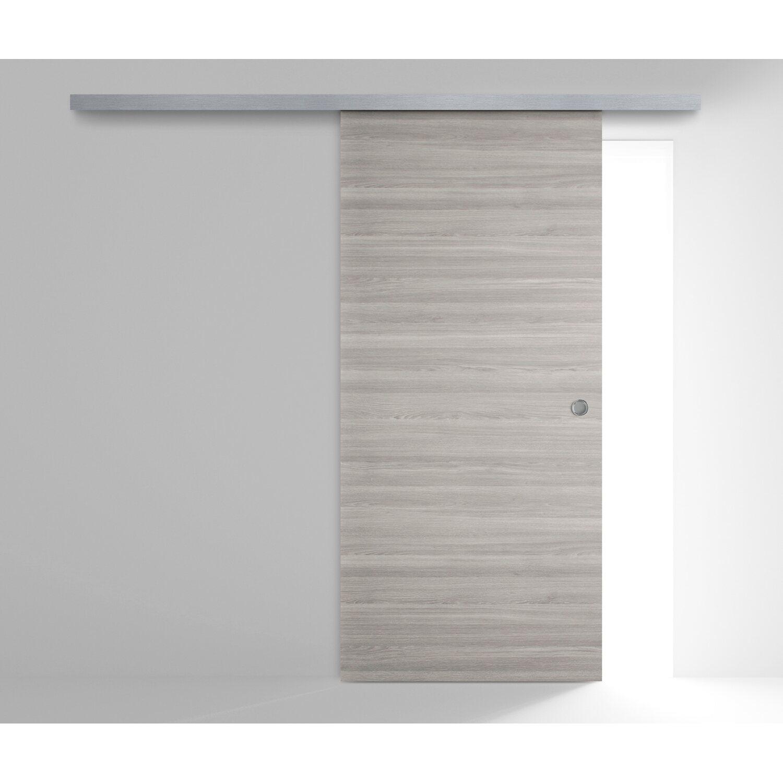 Porta scorrevole esterna reversibile Thuile grigio quarzo 210 cm x ...