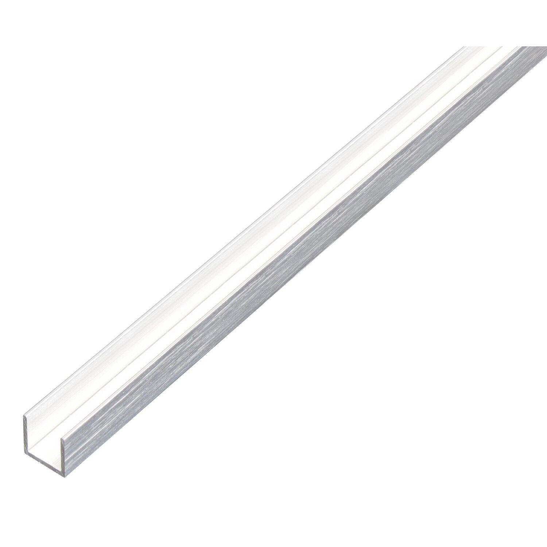 Profilo ad u in alluminio acciaio inox chiaro 10 mm x 10 mm x 1000 mm acquista da obi - Profili acciaio per piastrelle prezzi ...