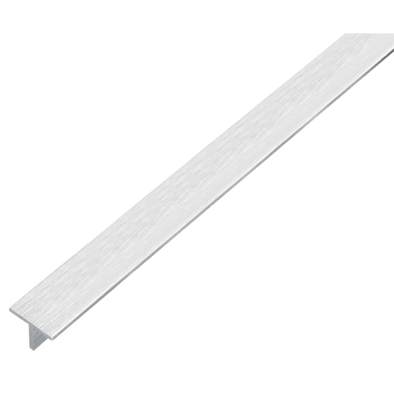 Profilo a t in alluminio color acciaio inox 15 mm x 15 mm for Profili per gradini in acciaio