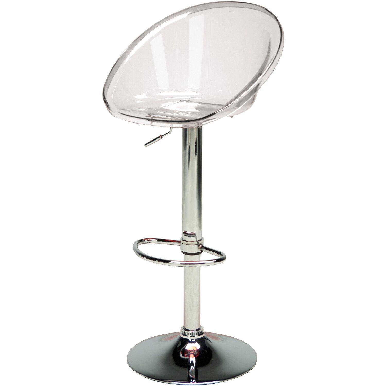 Sgabelli In Plastica Trasparente.Grandsoleil Sgabello Bar Sphere Trasparente Obi
