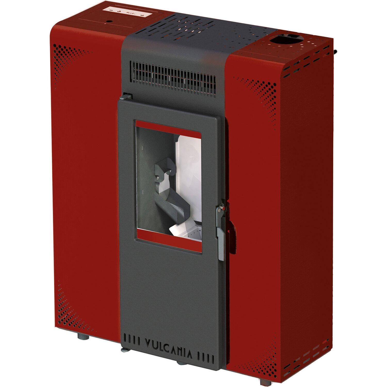 Vulcania stufa a pellet minislim 6 5 kw rosso acquista da obi - Catalogo stufe a pellet ...