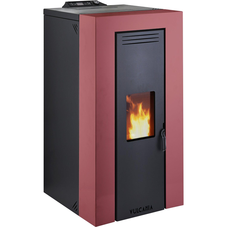Vulcania termostufa a pellet baby caldaonda 22 kw rosso - Stufa a pellet per termosifoni ...