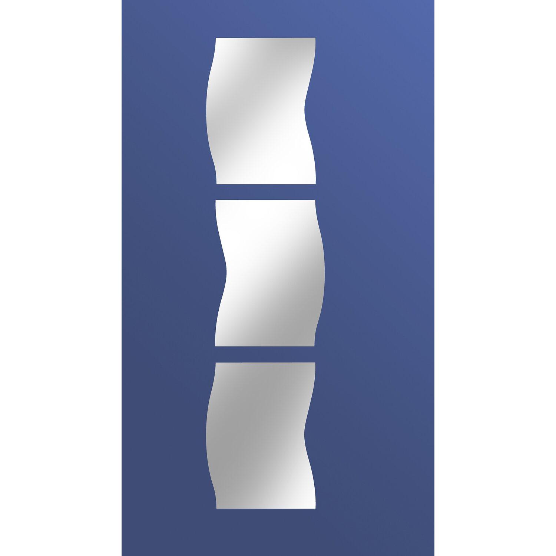 Specchio a filo lucido simply ondulato componibile 120 cm - Specchio per valutazione posturale ...