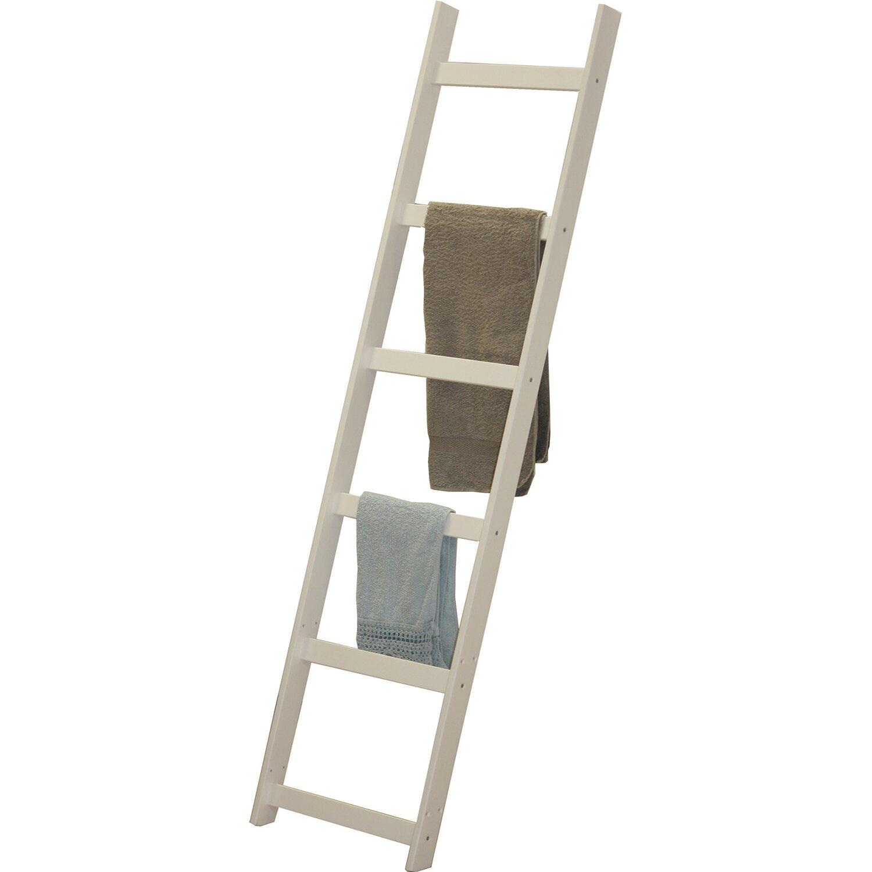 Scala porta asciugamani in legno bianco with scale in for Scale in legno fai da te