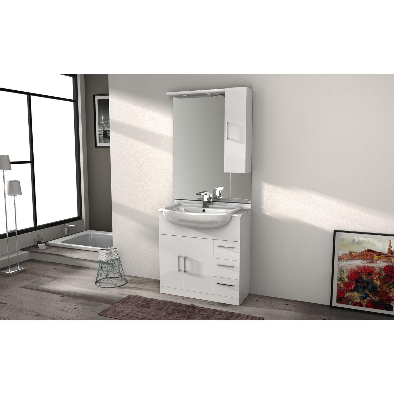 Mobile lavabo lavatrice with mobile lavabo lavatrice for Mobili bagno 35 cm