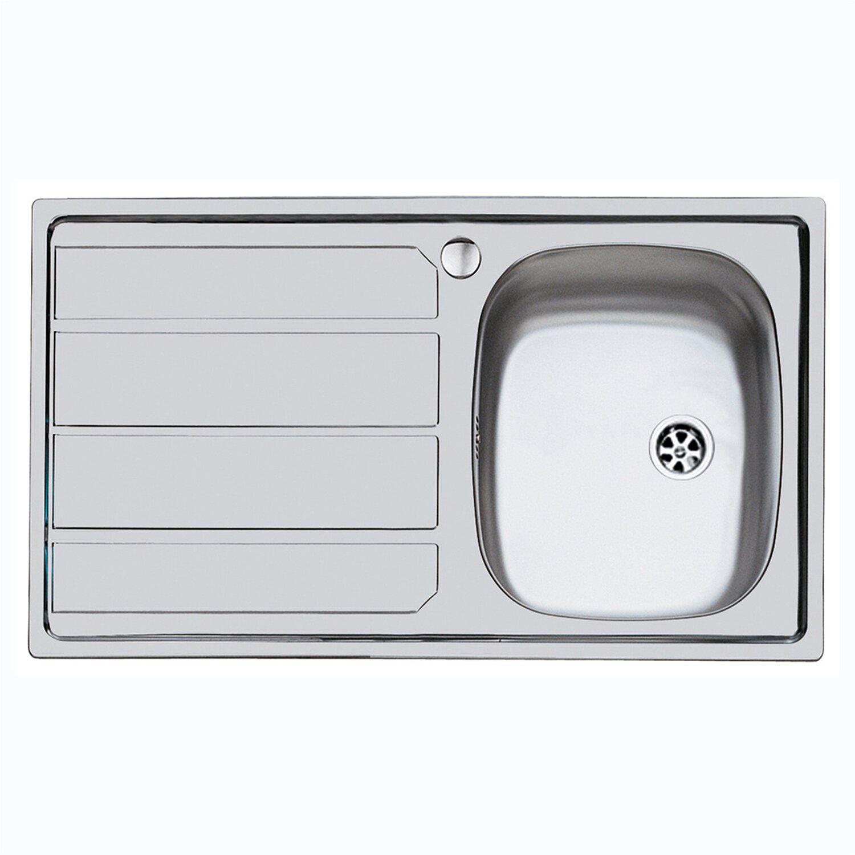 Lavello in acciaio inox con una vasca sinistra - 79 x 50 cm
