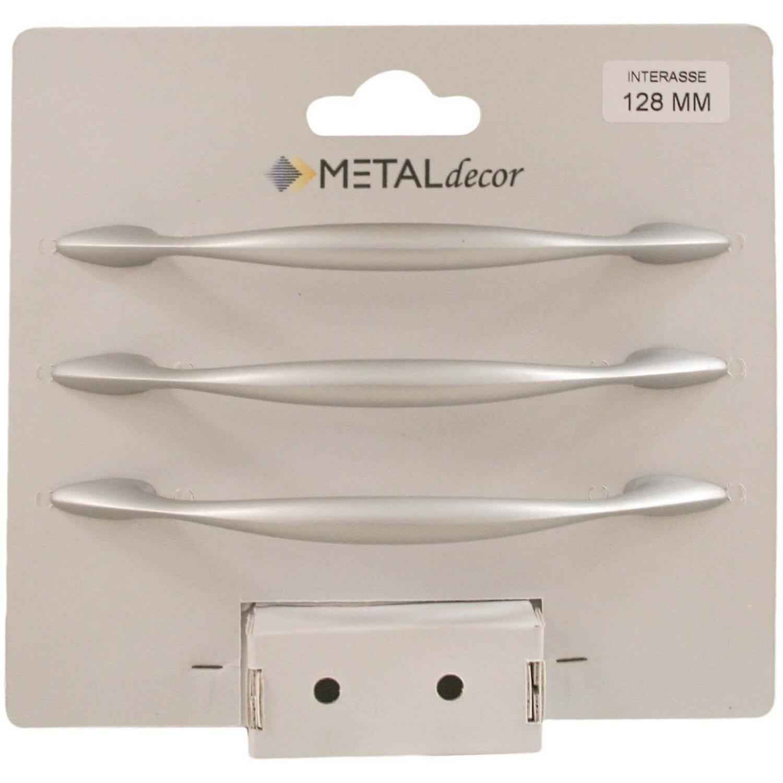 Maniglie X Mobili Da Cucina kit 3 maniglie in zama interasse 128 mm cromo matt