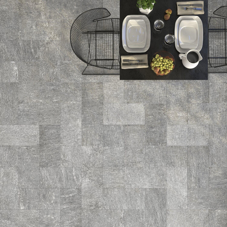 Pavimento Pietra di Luserna grigio 20x40 cm