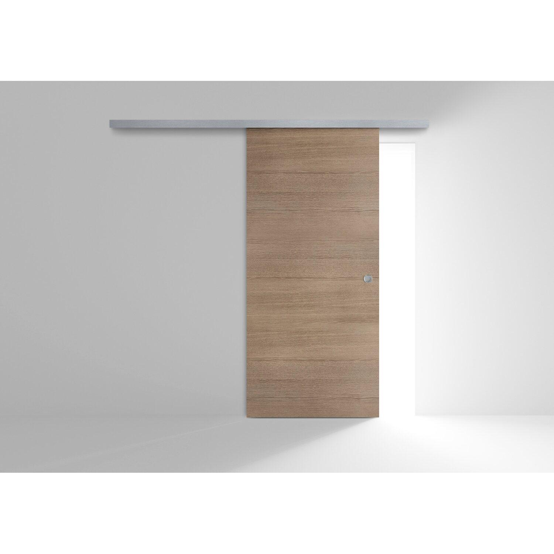 Porta scorrevole esterna reversibile EKLA Rovere Tabacco 60 cm x 210 cm