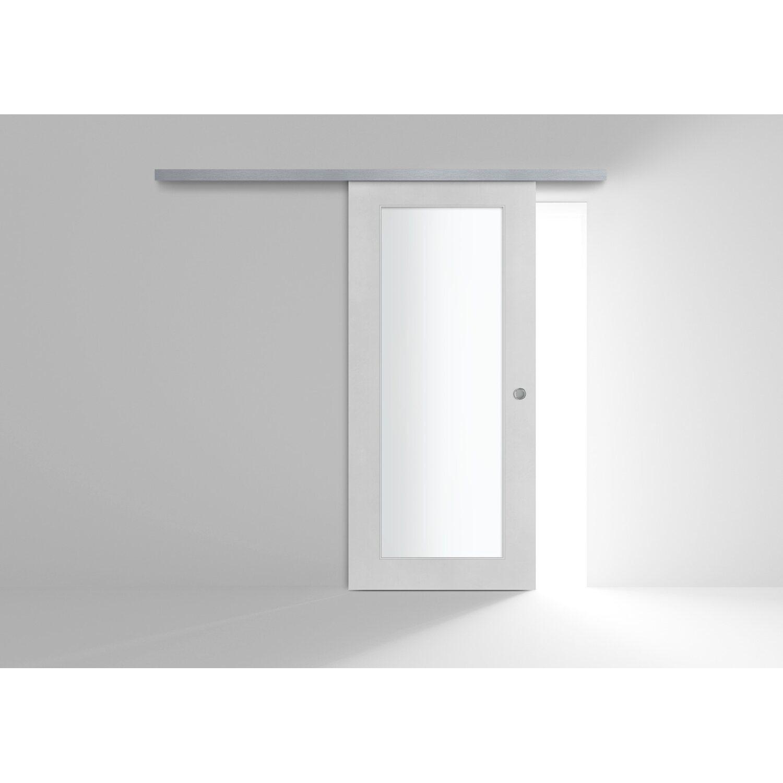 Porta Scrigno 60 Cm porta scorrevole esterna vetrata reversibile ekla cemento 90 cm x 200 cm