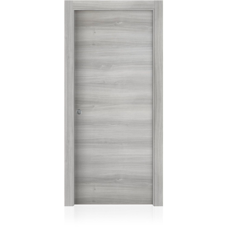 Porta Scrigno 60 Cm porta scorrevole reversibile maui olmo grigio 90 cm x 200 cm