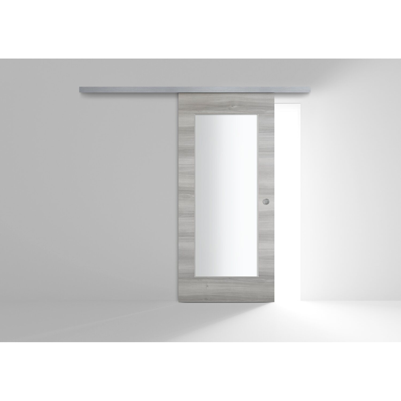 Porta Scorrevole Con Binario Esterno porta scorrevole esterna vetrata reversibile maui olmo grigio 60 cm x 210 cm
