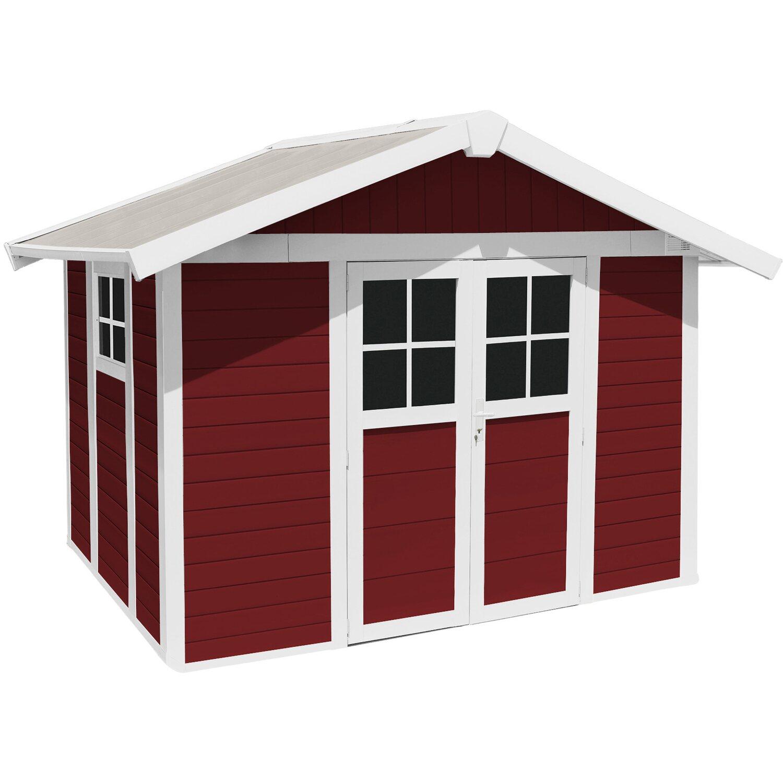 Casetta Per Giardino Plastica.Casetta Da Giardino Deco 7 5 M Rosso Mattone Obi