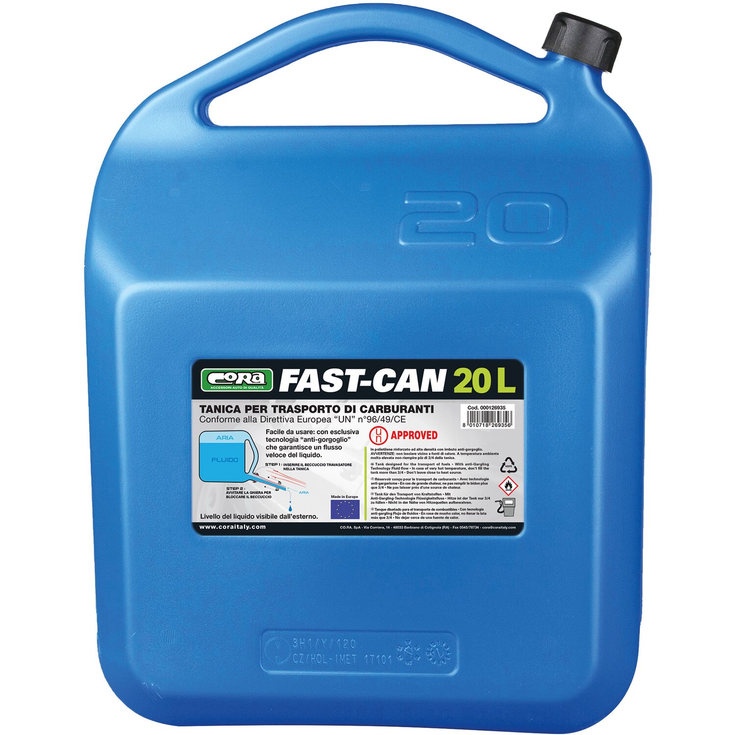 Fast can tanica 20 l omologata un acquista da obi for Obi stufe a combustibile liquido