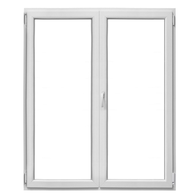 Finestre Con Veneziane Incorporate Prezzi finestra in pvc bianca 2 ante 100 cm x 120 cm apertura a destra