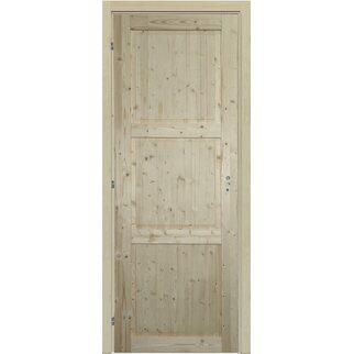 Porta reversibile Stelvio abete grezzo 70 cm x 210 cm con coprifilo ...