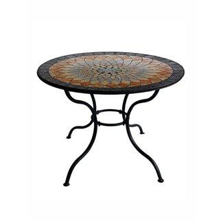 Tavoli Da Giardino Mosaico Prezzi.Tavolo Tondo In Metallo Con Piano In Mosaico Acquista Da Obi
