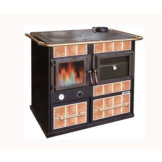 Vulcania termocucina a legna con forno Magma fiamma visibile 28 kW ...